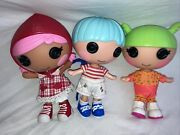 Lot Of 3 Lalaloopsy Littles Dolls Tiny Mightmatey Anchors And Cape Riding Hood