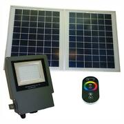 Solar Led Outdoor Rgb Flood Light Color Changing Spot Lighting W Remote Control