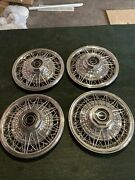 Nice Wire Hubcaps Spoked Fits Cadillac Buick 15andrdquo Ford Chrysler Aftermark Chevy