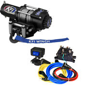 Kfi A2500 Atv 2500 Lb Winch And Mount For 2002-2008 Yamaha Grizzly 660 4x4