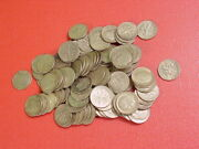 Roll Of 100 Roosevelt Dimes 10 Face Value 90 Silver Mixed Late Dates Lot