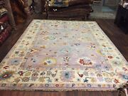 On Sale Genuine Hand Knotted Indo Oushak Geometric Area Rug Carpet 9andrsquo1andrdquox12andrsquo11