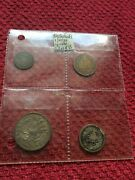 Netherllands Set Of Circulated Coins 1/10/25 Cent And One Guilder