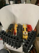 Toy State Industries Caterpillar Express Toy Plastic Train Set-loco,20 Tracks