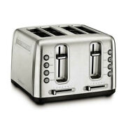 Cuisinart Rbt-4900pc Stainless Steel 4-slice Toaster With Shade Control Brush