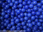 Opaque 1 Inch Blue Game / Chinese Checker Mega Marbles 600 Count Case