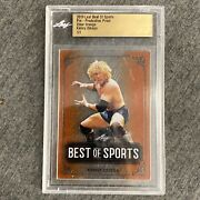 Kenny Omega 2019 Leaf Best Of Sports Pre-production Proof Clear Orange 1/1