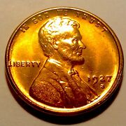 1927-s Lincoln Cent Penny Gem Bu Red