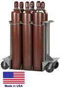 Gas Cylinder Truck Dolly Lp Propane Welding Gases Compressed Air - 6 Tank Cap