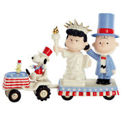 Lenox Peanuts It's Independence Day Snoopy Charlie Brown Lucy Figurine Set New
