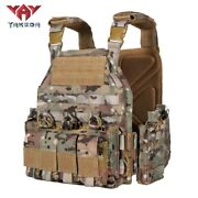 Yakeda 1000d Nylon Plate Carrier Tactical Vest Outdoor Hunting Protective