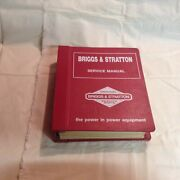 Briggs And Stratton 2 And 4 Stroke Engine Parts Service Manuals In Binder - Nice