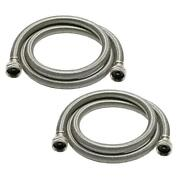 Universal 3/4 In. X 6 Ft. Stainless Steel High Efficiency Washing Machine Hose