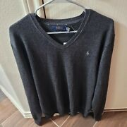 Men Polo Wool Vneck Size Xl Nwt Retails For 98.50 Ships Asap