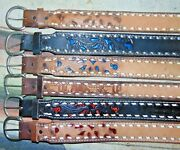Vintage C And M Leather Co Buckstitch Stamped Western Belts Lot Of 6 Size 28 New