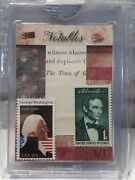 Washington And Lincoln 2019 The Bar Pc O. T. Past Stamps/1864 Public Land Deed 1/1