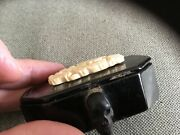 Antique Andlsquoestate Findandrsquo Snuff Box /skull Carved Top Very Cool