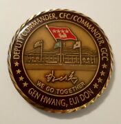 Challenge Coin Deputy Commander General Hwang Eui Don Chief Of Staff Rok