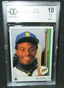 Ken Griffey Jr. Rc 1989 Upper Deck Draft Day Pose Rookie Card1 Bccg10mariners