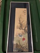 Hand Painted Silk Scrolls. Chinese Republic Period Paintings 1912-1949