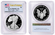 2021 W Silver American Eagle 1 Type 1 Pcgs Pr69dcam Firststrike Flag R5