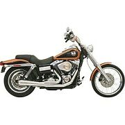 Bassani Chrome Short Upswept Road Rage 2-into-1 Exhaust System For Dyna 06-17
