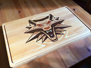 The Witcher Wooden Hi-class Cutting Board Inlay Bouled