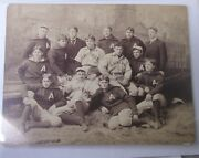 Vintage Old Late 1800s Amherst Baseball Team Cabinet Photo 14 X 11