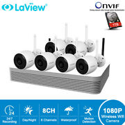 Laview 8ch Wireless Wifi Nvr 6x 1080p Outdoor Ip Camera Security System 1tb Hdd