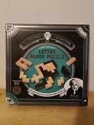 Puzzle Letter Block Albert Einstein Used Once Logic Game Kids Thinking School
