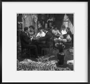 Photo Photo Of Stereograph, Playing Cards, Parlor Table, C1906, Couples Playing