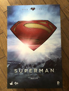 Hot Toys Mms 200 Man Of Steel Superman Henry Cavill 12 Inch Action Figure Used