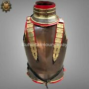 18 Gauge Steel Medieval Knight French Armor Cuirass Front And Back With Gorget