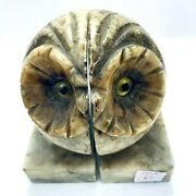 Owl Book Ends Alabaster Marble Hand Carved 5 Italy Present