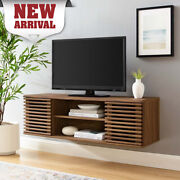 Modern Floating Wall Mount Tv Stand Wood Entertainment Center Shelves Storage Us