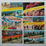 Vintage Postcard Greetings From Chicago Atlantic City Cards Mixed Lot Of 13