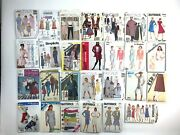 Lot Of 27 80's And 90's Sewing Patterns Simplicity, Mccalls Butterick Andsuper Saver
