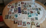Vintage Lot Of 57 Catholic Prayer Cards Holy Pictures And Memorial Cards
