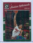 2016-17 Donruss Optic Hassan Whiteside Green Prizm Ssp And039d 4/5 Miami Heat Rare