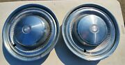 1970and039s 15 Inch 2 Piece Trim Ring Dodge Plymouth Hub Cap Wheel Cover Mopar Pair