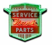 1950and039s Nash Neon Stylized Metal Sign
