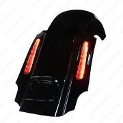 Cvo Stretched Rear Fender With Led Lights For 2009-2021 Harley Davidson Touring