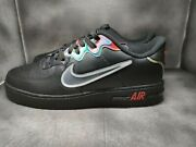 Nike Air Force 1 React Black Glow Habanero Red Size 14 Shoes Cn9838-001