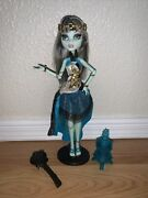 Monster High 13 Wishes Frankie Stein Doll W/ Lamp, Stand And Brush