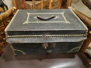 Antique Leather Box Horace Rice Harness Maker No 30 Hanover Street Boston