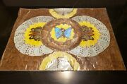 Vintage Real Blue Morpho Butterfly Wing Art From Brazil  3
