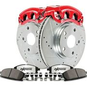 Kc6726 Powerstop Brake Disc And Caliper Kits 4-wheel Set Front And Rear For Vw