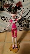 Monster High Dead Tired Draculaura With Ooak Bat Sleep Mask And Bat Slippers.