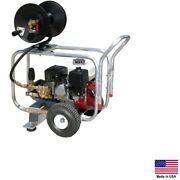 Drain Cleaner Jetter Commercial - 3 Gpm - 2400 Psi - 5.5 Hp Honda - Gp Pump