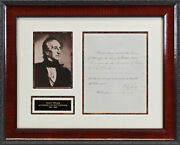 John Tyler Authentic Signed And Framed 7x9.25 Letter Dated November 17 1842 Bas